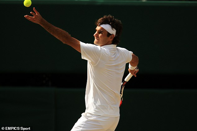 Federer's fluid service motion rarely breaks down under pressure and brings him lots of aces