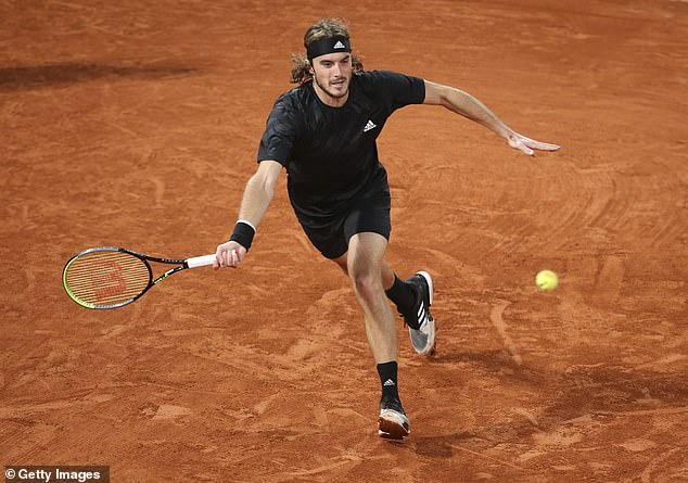 Stefanos Tsitsipas was beaten by Djokovic at Roland Garros after taking the Serb to five sets