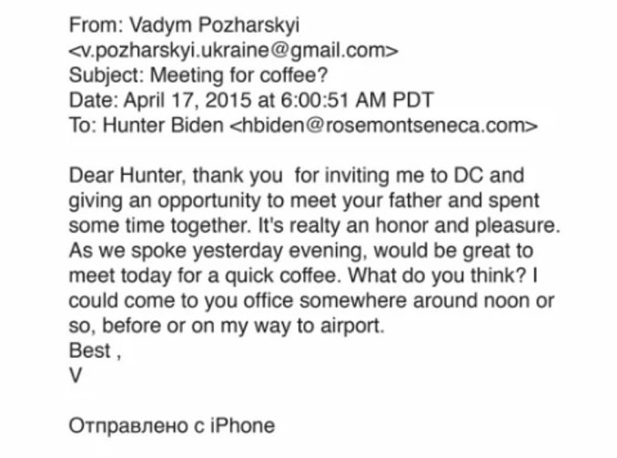 On Wednesday, a trove of emails obtained from Hunter's laptop showed Hunter making an effort to introduce his father to an adviser at his Ukrainian gas firm (pictured)