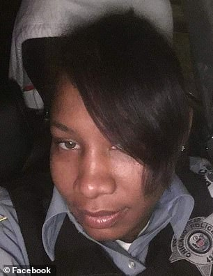 Johnson was said to be out drinking with Cynthia Donald (pictured), a member of his security detail, hours before he was found asleep in his vehicle
