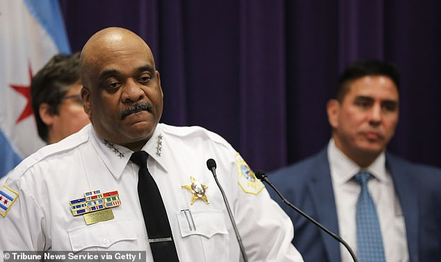 Eddie Johnson, 59, was fired by Chicago Mayor Lori Lightfoot in December 2019 after he was found slumped in his car after a night of heavy drinking in October