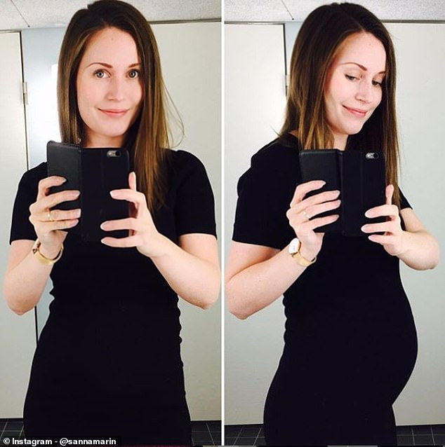 A politician for the millennial 'Instagram generation', during her rise to success in the political field Ms Marin charted her pregnancy journey on her Instagram page, sharing selfies of her pregnancy bump and even a candid breastfeeding shot