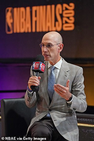 The NBA lost about $400 million in Chinese business, according to league commissioner Adam Silver (pictured), and faced criticism in the US for its perceived kowtowing to the communist regime in Beijing