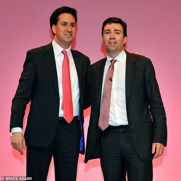 Ed Miliband - who beat Burnham in the Labour leadership battle - with him in 2010