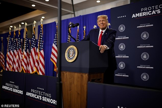President Donald Trump, on the day after his contentious town hall with NBC, got in another round of attacks on moderator Savannah Guthrie and his Democratic rival Joe Biden during a speech to seniors in Florida on Friday