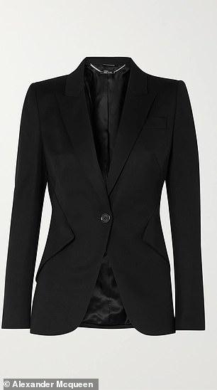 Alexander McQueen Grain de Poudre blazer - $1995 (£1,544)