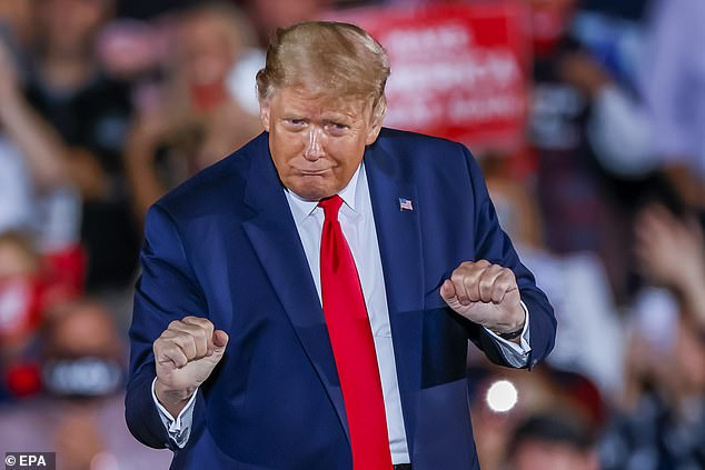 Kelly, who left the White House in January 2019, told friends the president treats relationships like 'transactions' and branded his behavior 'pathetic', according to CNN. Trump at Friday's rally in Macon, Georgia