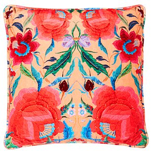 A cushion from Alice Temperley London - a firm favourite of the Duchess of Cambridge