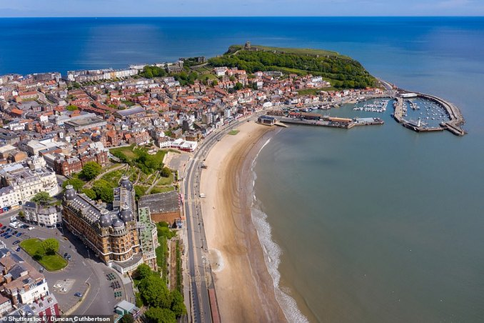 Regular fossil hunts operate on the beaches around Scarborough, pictured, which is on North Yorkshire's Fossil Coast