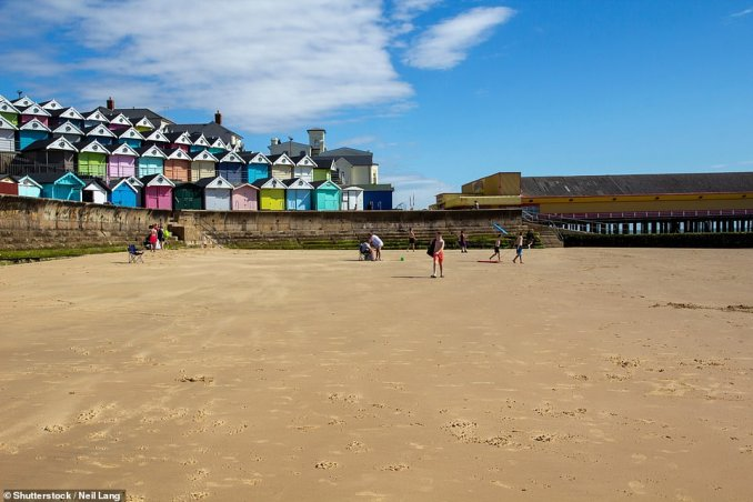 If you head north from Walton-on-the-Naze, pictured, there's a good chance of uncovering fossils