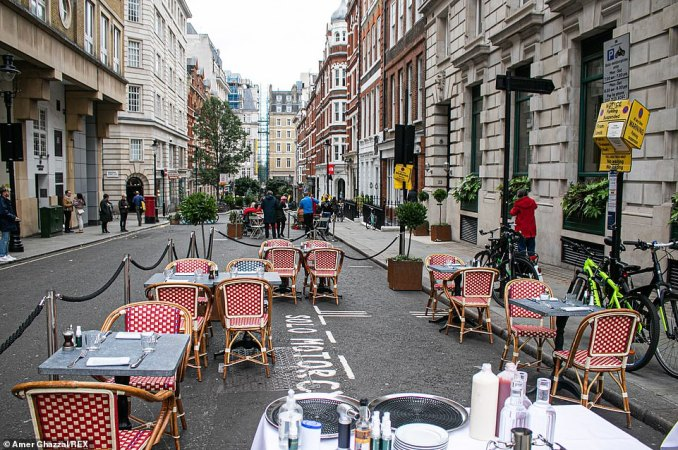 Outdoor socially distanced mingling is permitted for groups of up to six but venues across the city were deserted on the first day of the Tier 2 restrictions