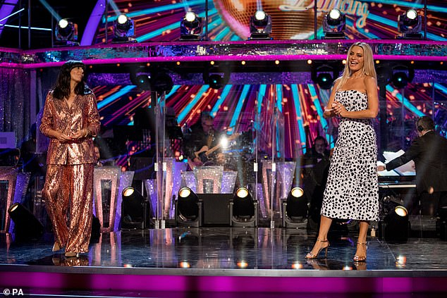 Staying safe: HostsClaudia Winkleman and Tess Daly also outlined the shows strict social distancing measures as they opened the series