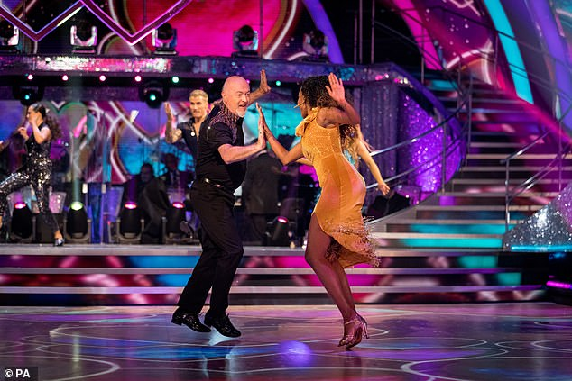 Comedian Bill Bailey and Oti Mabuse, during launch show for this year's Strictly Come Dancing