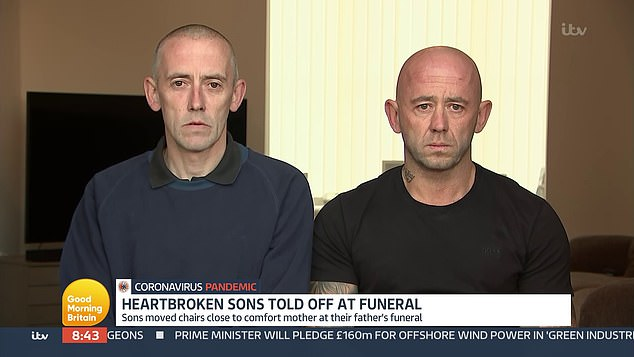 Appearing on Good Morning Britain today, Craig (right) and brother Paul (left) toldthat the staff member moving towards them with 'such aggression' made the 'hardest day of their life' worse