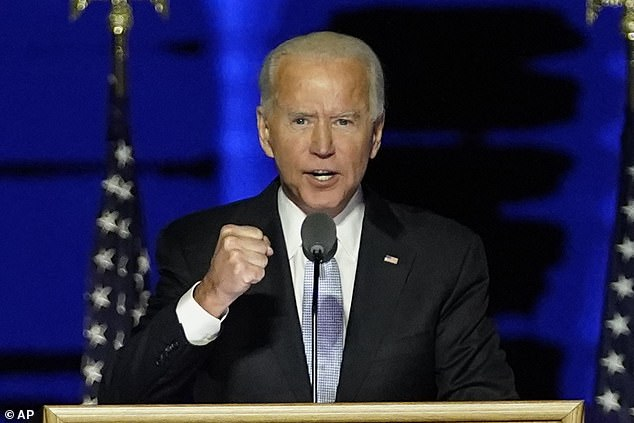 A NYT report revealed Meacham had been helping craft Biden's speeches including the victory speech the president-elect delivered in Wilmington, Delaware on Saturday night
