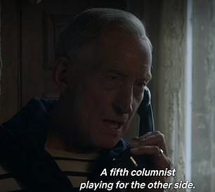 The scene, which featured in the first episode of the newly released fourth series, shows Lord Mountbatten confronting the Prince of Wales over his pursuit of married Camilla Parker Bowles.
