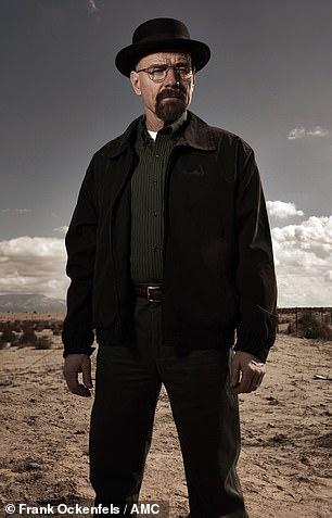Bryan Cranston as Walter White sports his signature pork pie hat on Breaking Bad