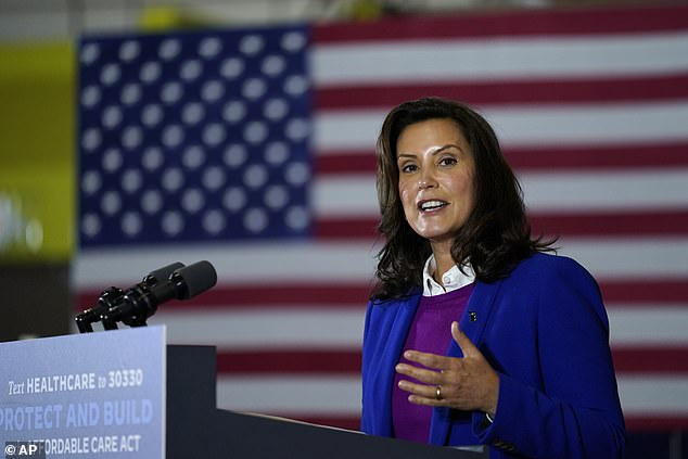 New restrictions were announced by the state  and Gov. Whitmer on Sunday (the governor pictured in October)