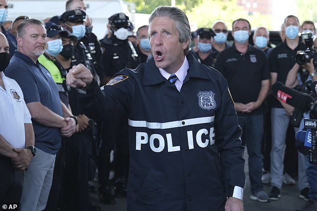 Lynch, president of the PBA, has urged politicians to allow police to do their jobs
