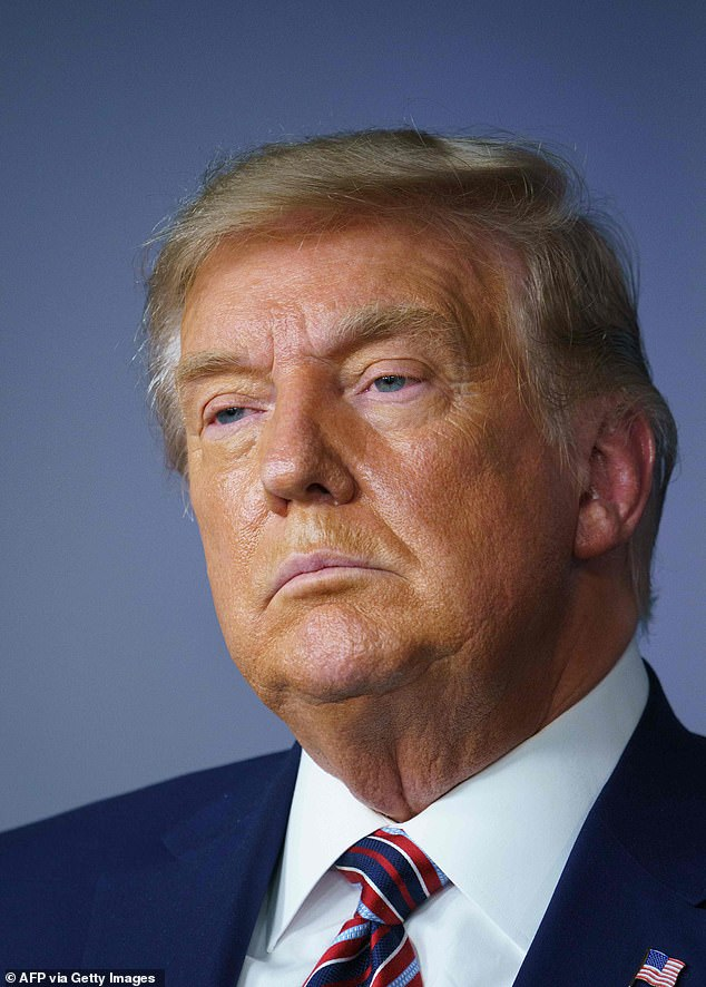 President Trump (pictured) admitted in March that he intentionally downplayed the severity of the coronavirus to Americans