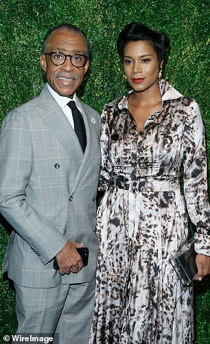 Sharpton's estranged wife Kathy Jordan Sharpton (pictured together) received a $5,000 grant for a scholarship fund