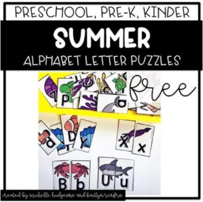 Preschool Activities Cover - 5Summer Freebie