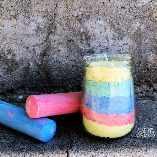 Chalk Candles Preschool Learning Activity