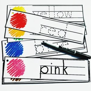 Tracing Cards - Colors