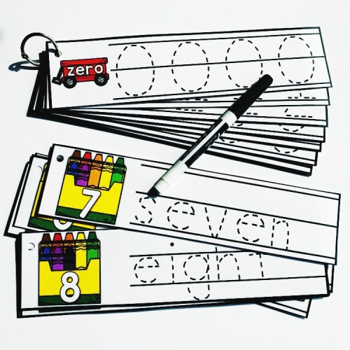 Number Tracing Cards
