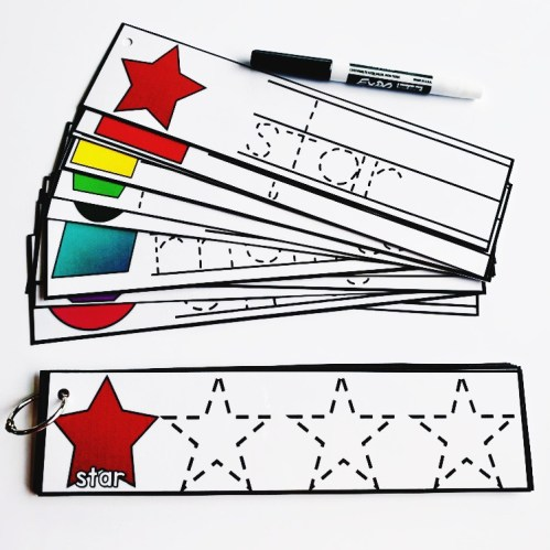 Shape Tracing Cards
