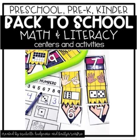 Preschool Activities Cover - 8August