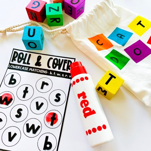 Roll and Dab Lowercase Letters Activities