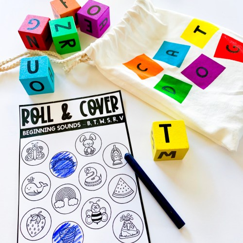 Roll and Color Beginng Sounds Activity