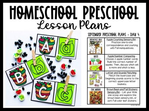 September Preschool Plans