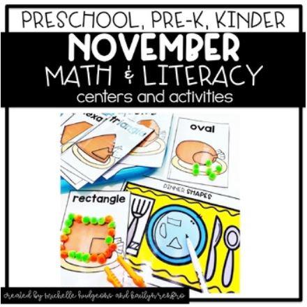 Preschool Activities Cover - 11Thanksgiving