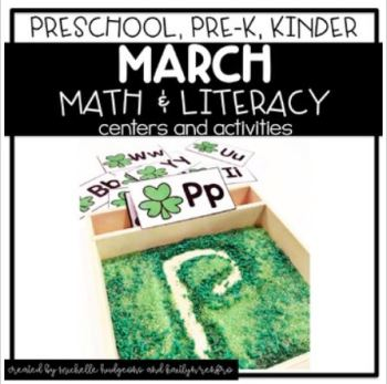 Preschool Activities Cover - 3St Pat