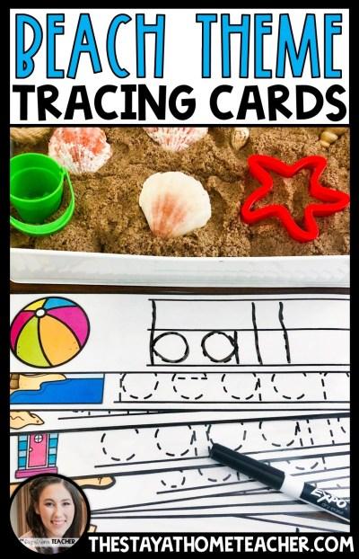 beach themed handwriting cards