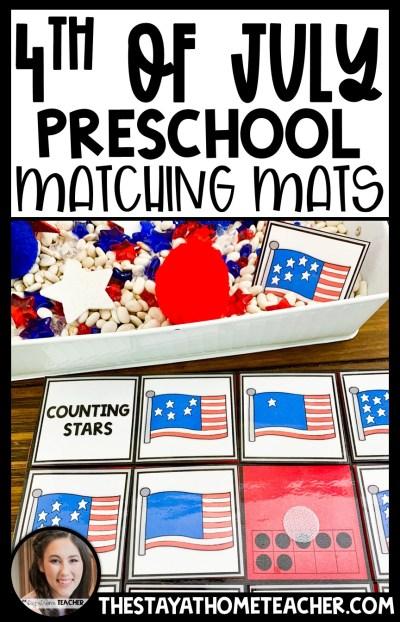 4th of July matching mats