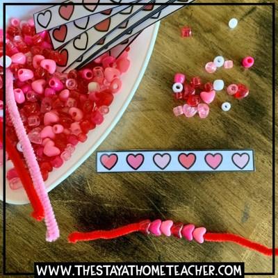 valentine heart pattern strips