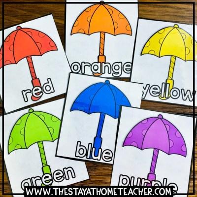 weather umbrella color sorting