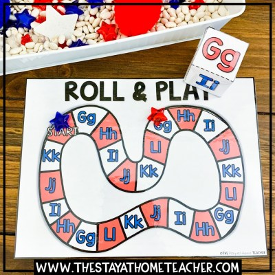 4th of July alphabet board game