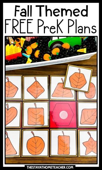fall preschool plans pin