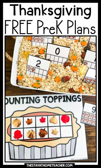 thanksgiving preschool plans pin