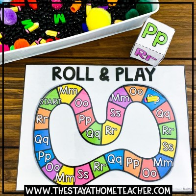 alphabet roll and play