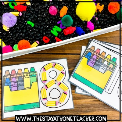 crayons counting cards