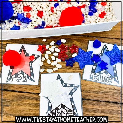 4th of July star color sorting