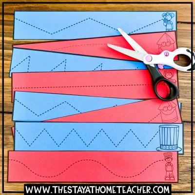 4th of July scissors practice