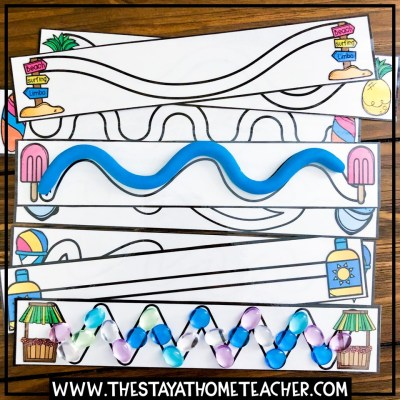 beach tracing cards