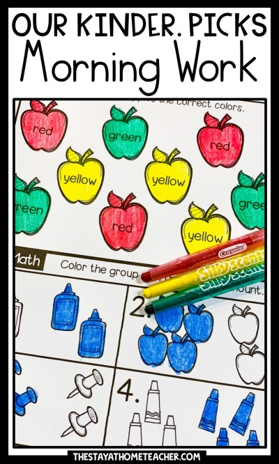 kindergarten morning work pin