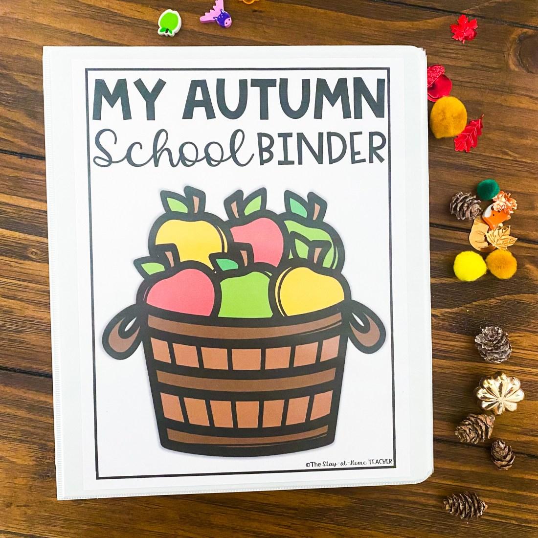 autumn kinder binder cover